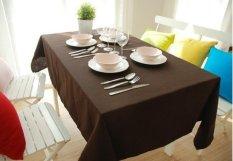 Taplak Meja Kain Modern Minimalis Plain-kanvas Berwarna Kualitas Katun Meja Makan Warna Meja, Taplak Meja Rectangle Konferensi Besar, Taplak Meja 145*220 Cm Brown-Intl