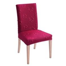Tebal Bersantap Kursi Menutupi Polos Honeycomb Elastis 100% Polyeser Rumahhotel Perjamuan Kursi Sarung Pendek Tinggi Back-mudah Instalasi -Internasional