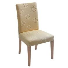 Tebal Makan Kursi Cover Solid Elastis Honeycomb 100% Poliester Home Hotel Perjamuan Kursi Cover Pendek High Back-Pemasangan Mudah -Intl