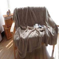 Menebal Flanel Selimut Mudah Dicuci Selimut Kecil untuk Sofa/Tempat Tidur/Mobil Cobertores Portable Nap Cobertor AC Bed Cover Melempar Selimut 140x200 Cm-Intl