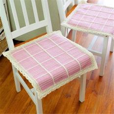Katun Tipis Dikepang Kursi Bantal Bantal Kursi Empuk Komputer Kantor Kursi Cushion Cotton Fabric Powder Spesifikasi 40*40 Cm -Intl