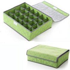 Thinch Underwear Storage 24 Grid Box / Penyimpanan Celana Dalam /Kaos Kaki / Brg Kecil - Hijau