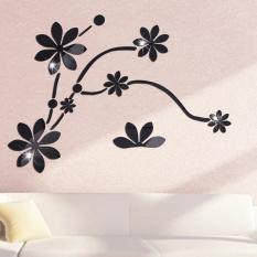 Tiga Dimensi Wall Stiker Kulkas Cermin Ruang Posted Crystal Bunga Rotan Stiker Dinding-Internasional