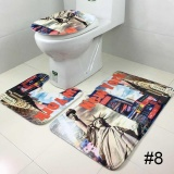 Ulasan Tentang Tiga Piece Set Velvet Toilet Toilet Lid Cover Penyerap Anti Selip Lantai Wc Karpet Internasional