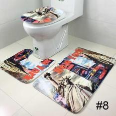 Harga Tiga Piece Set Velvet Toilet Toilet Lid Cover Penyerap Anti Selip Lantai Wc Karpet Internasional Di Tiongkok