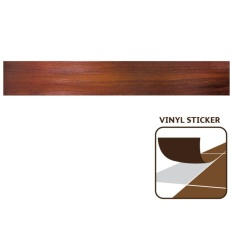 Tidy Vinyl Sticker Dark-Red Teak/box=3.753m2 By Mitra10 - Supermarket Bahan Bangunan.
