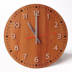 Beli Tik Tok Box Jam Dinding Mwcs Round Clock Cokelat Pake Kartu Kredit