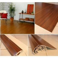 Jual Tikar Kayu Plywood Gratis Ongkir Karpet Coklat Tua 182X245 Lampit Di Indonesia