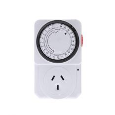 Timer Switch Diprogram Waktu Kontrol Eropa Plug 24 Jam Hemat Energi Plug-Intl