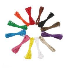 Tinksky 12 Buah 10 M 1Mm 28 30Lbsbonus Tali Katun Wax For Diy Membuat Kerajinan Gelang Kalung Tinksky Diskon