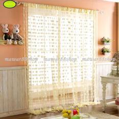 Tirai Benang Motif Love warna -kuning /mawar88shop
