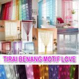 Tirai Benang Motif Love warna -pink fanta /mawar88shop   Lazada Indonesia