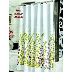 Tirai Kamar Mandi Anti Air - Shower Curtain Bathroom Motif By Gogo Shop