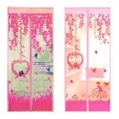 Tirai Magnet Anti Nyamuk Motif Love Bird - Pink