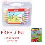 Titi Krayon 36 Oil Pastels Crayon Free 3 Pcs Buku Belajar Mewarnai Diskon Akhir Tahun