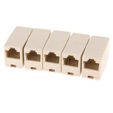 Tius 50 Pcs RJ45 CAT5 Steker Penghubung Jaringan Kabel LAN Konektor Extender Adap