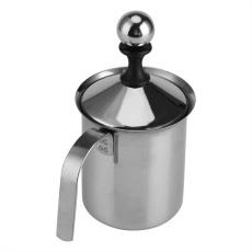 Tmishion 400 Ml Rumah Baja Nirkarat Manual Pengocok Susu Saringan Ganda Kopi Cappuccino Foamer Creamer-