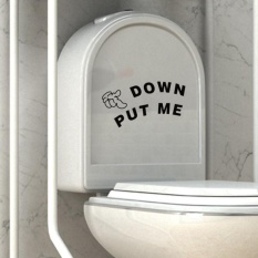 Toilet Seat WC Wall Sticker Vinyl Art Removable Bathroom Mural Home Decor DIY
