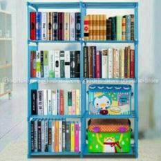 Beli Tokorak Rak Buku Portable 2 Sisi Rak Serbaguna Lemari Buku 2 Sisi Sky Blue Tokorak Dengan Harga Terjangkau