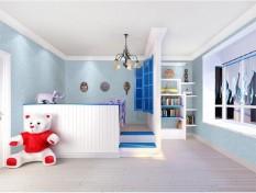 TOKUNIKU Wallpaper 3D Non Woven Minimalis Plain Ephedra 53cmx10m - Sky Blue 90074