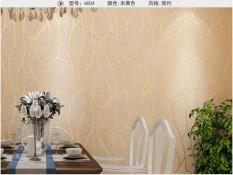 TOKUNIKU Wallpaper 3D Non Woven Modern Curved Stripe 53cmx10m - Champange 6004
