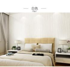 TOKUNIKU Wallpaper 3D Self Adhesive Fashion Modern Stripe 53cmx5m - White 7061