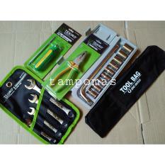 Jual Tool Set 5Bh Tekiro Ring Pas Set Tool Kit Tang Kombinasi Tekiro Obeng Bolak Balik Tool Bag Tas Perkakas Tekiro Online