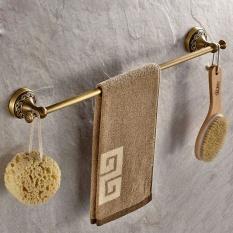Handuk Bar, Batang Handuk, Single Pole Supply Manual Wiredrawing Towel Rod, Tembaga Antik Tiang Tunggal, 55 Cm-Intl