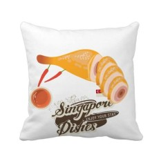 Traditional Singapore Hainanese Chicken Square Throw Pillow Insert Cushion Cover Home Sofa Decor Gift - intl