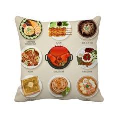 Tradisional Singapura Hidangan Lezat Bantal Bantal Sarung Bantal Sofa Rumah Dekorasi Hadiah-Internasional