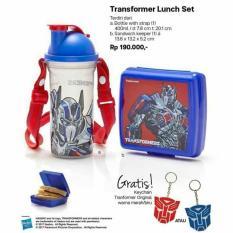transformer lunch set paket bekal anak tupperware asli