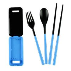 SENDOK GARPU MAKAN PORTABLE Traveling Portable Box Of Cutlery