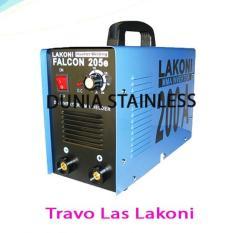 Mesin Travo Las Lakoni 205E alat alat teknik interior besi argon stainless steel.