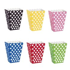 Mengobati Polka Dots Spot Style Kotak Favor Pesta Ulang Tahun Paper Loot Tas Kuning-Internasional