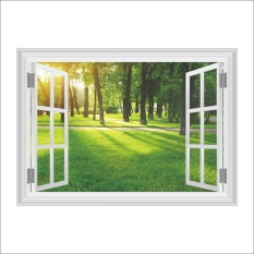 Pohon Hutan Sun Nature Living Room Wall Decal Poster 3D Art Stiker-Intl