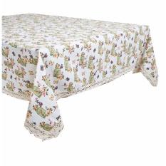 Tren-D-home Taplak Meja Makan / Table Cloth Kanvas Linen 150 cm x