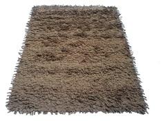 Tren-D-rugs - Karpet Shaggy Finger Felt 120 cm x 160 cm - Brown - NMs