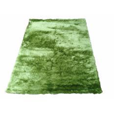 Tren-D-rugs - Karpet Permadani Kamar Tidur / Ruang Tamu Bulu Tebal Shaggy Polos 100 cm x 150 cm Hijau - NMs