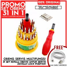 Trend's Mini Set Obeng 31 in 1 Multifungsi + Gratis Kabel Android 2.4 Ampere 1.5 m (Fast Charging & Sync)