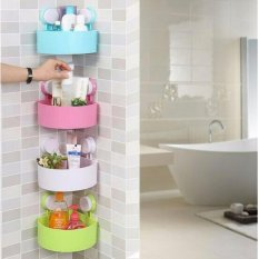 Triangle shelves Bathroom - Rak sudut Kamar Mandi tempat sabun serbaguna - Biru