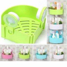 Triangle shelves Bathroom - Rak sudut Kamar Mandi tempat sabun serbaguna - Hijau
