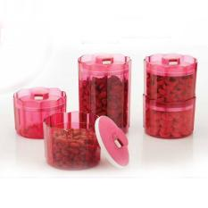 Review Tupperware Advanced Counterpart Pink Set Di Indonesia