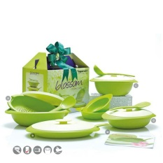 Tupperware Blossom Collection - Paket Wadah Saji - Hijau