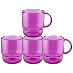 Dimana Beli Tupperware Clear Mug 4 Pcs Ungu Tupperware