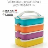 Spesifikasi Tupperware Click To Go Klik Clic Clik T Rantang 4 Susun Online
