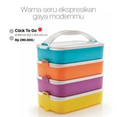Tupperware Click To Go New Rantang 4 susun  multi warna
