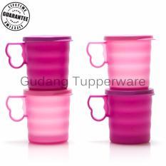 Tupperware Crescendo Mug (4PCS)  - Gelas dengan Tutup