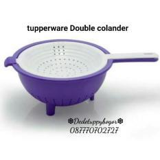 Toko Tupperware Double Colander Warna Menarik Dekat Sini