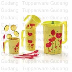 Review Tupperware Flower Drink Set