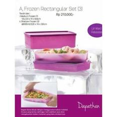 Tupperware Frozen Rectangular Set (3 Pcs)- Wadah Penyimpan Di Freezer - Twq4lc